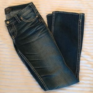"""Silver Frances jeans, 18"""" opening, size 29/33"""